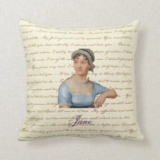 Retrato de Jane Austen y almohada P&P S&S de la ci