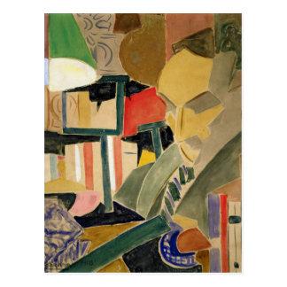 Retrato de Joan Salvat-Papasseit 1918 Postal