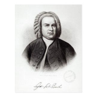 Retrato de Johann Sebastian Bach Postal