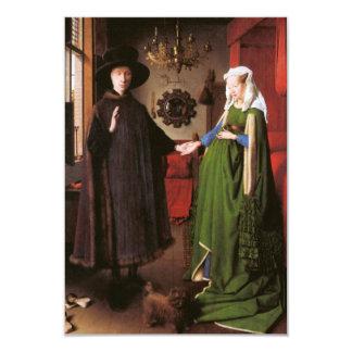 Retrato de Juan Arnolfini y su esposa Invitación 8,9 X 12,7 Cm