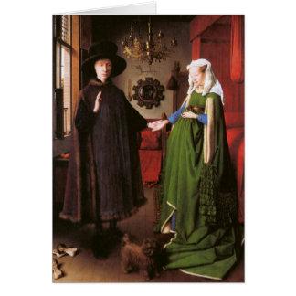 Retrato de Juan Arnolfini y su esposa Tarjeta Pequeña