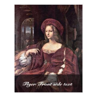 Retrato de Juana de Aragón de Raffael Folleto 21,6 X 28 Cm