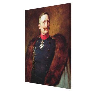 Retrato de Kaiser Wilhelm Ii Impresión En Lienzo