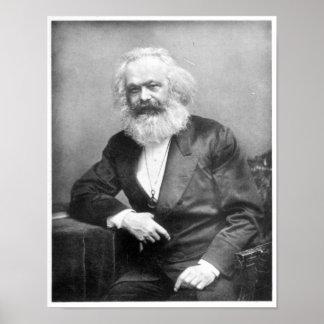 Retrato de Karl Marx Póster