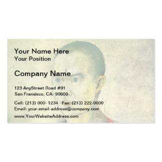 Retrato de Kazimir Malevich- de una juventud Plantillas De Tarjetas Personales