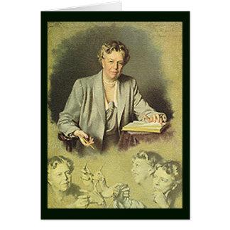 Retrato de la Casa Blanca de Eleanor Roosevelt Tarjeta De Felicitación