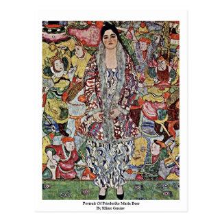Retrato de la cerveza de Friederike Maria de Klimt Postal