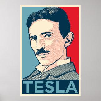 Retrato de la esperanza de Nikola Tesla Póster