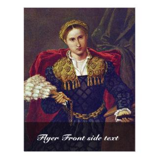 Retrato de la esposa de Laura DA Pola de Febo DA B Tarjeta Publicitaria