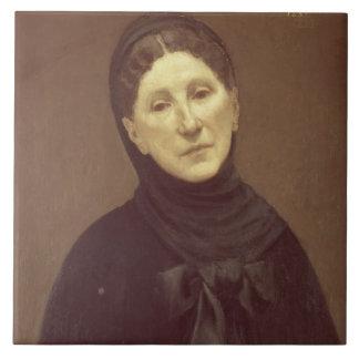 Retrato de la esposa del artista, señora de Chavan Azulejo Cuadrado Grande