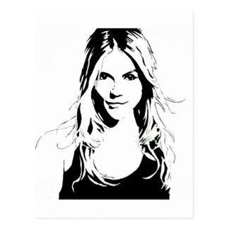Retrato de la mujer postal