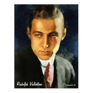 Retrato de la postal del arte de Rudolph Valentino