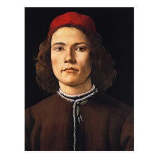 Retrato de la postal del hombre joven