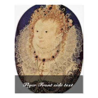 Retrato de la reina Elizabeth I del óvalo de Ingla Tarjetón