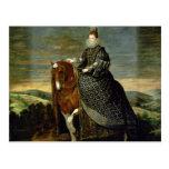 Retrato de la reina Margaret de Austria 1629-35 Postal