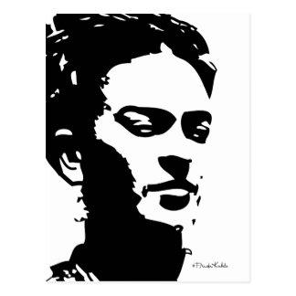 Retrato de la sombra de Frida Postal