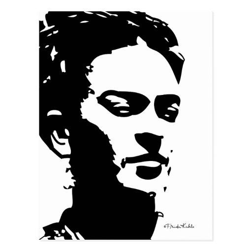 Retrato de la sombra de Frida Tarjeta Postal