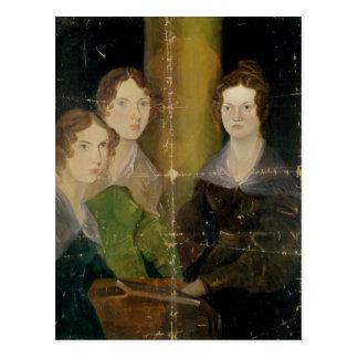 Retrato de las hermanas de Bronte, c.1834 Postal