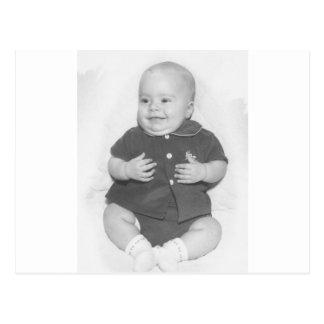 retrato de los años 50 del bebé postal