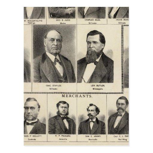 Retrato de los distribuidores autorizados de la ma postal