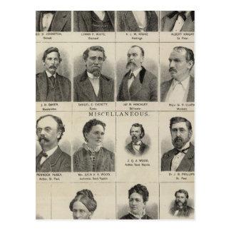 Retrato de los distribuidores autorizados de las p postal