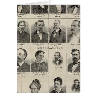 Retrato de los distribuidores autorizados de las p tarjeta de felicitación