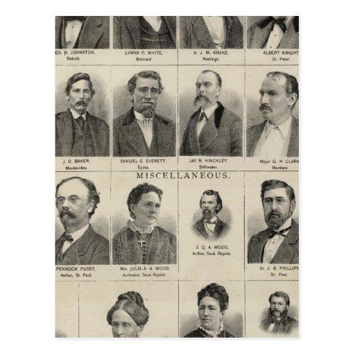Retrato de los distribuidores autorizados de las p tarjeta postal
