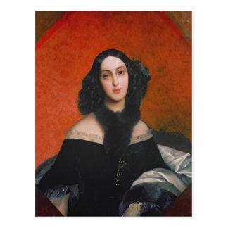 Retrato de M.A. Bek, 1840 Postal