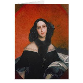 Retrato de M.A. Bek, 1840 Tarjeta De Felicitación