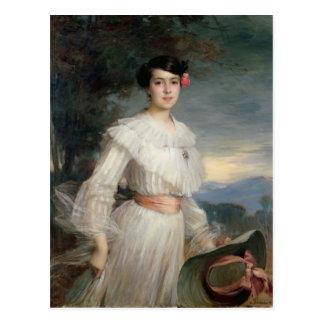 Retrato de Madeleine Reclus, 1902 Postal