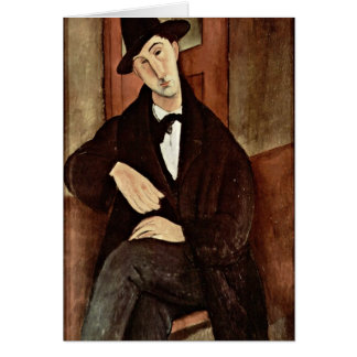 Retrato de Mario Varfogli de Amedeo Modigliani Felicitación