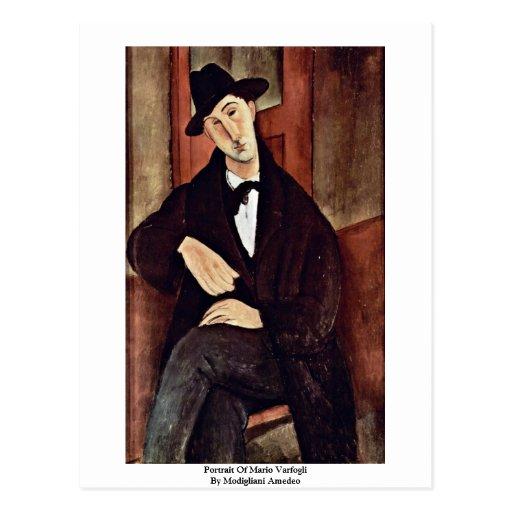 Retrato de Mario Varfogli de Modigliani Amedeo Tarjetas Postales