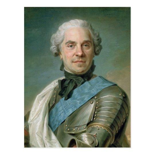 Retrato de Mauricio Comte de Saxe Postal