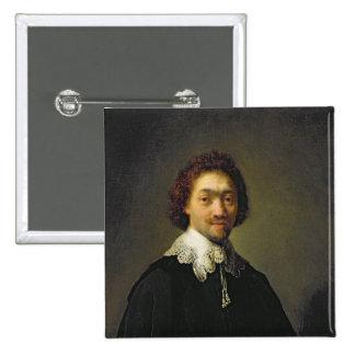 Retrato de Maurits Huygens, 1632 Chapa Cuadrada 5 Cm