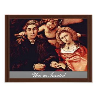 Retrato de Messer Marsilio y su esposa por la Invitación 10,8 X 13,9 Cm