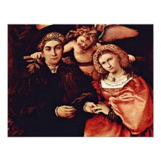 Retrato de Messer Marsilio y su esposa por la lote Comunicado