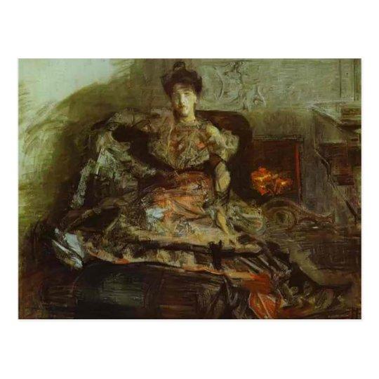 Retrato de Mikhail Vrubel- de Nadezhda Zabela Postal