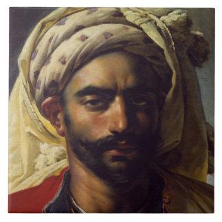 Retrato de Mustapha Azulejo Cuadrado Grande