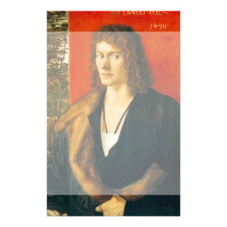 Retrato de Oswolt Krel de Albrecht Durer Tarjeta Publicitaria