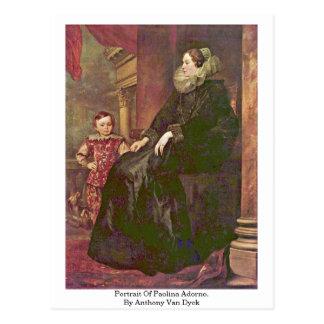 Retrato de Paolina Adorno. Por Anthony Van Dyck Postal