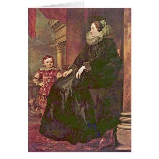 Retrato de Paolina Adorno. Por Anthony Van Dyck Tarjeton