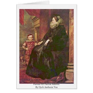 Retrato de Paolina Adorno Por Dyck Anthonis Van Tarjetón
