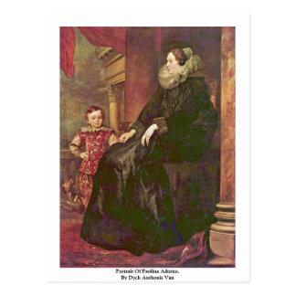Retrato de Paolina Adorno Por Dyck Anthonis Van Postal
