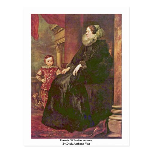Retrato de Paolina Adorno. Por Dyck Anthonis Van Postal