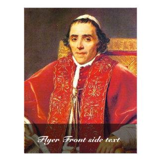 Retrato de papa Pius Vii de David Jacques-Louis Folleto 21,6 X 28 Cm