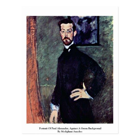 Retrato de Paul Alexander de Modigliani Amedeo Postal