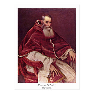 Retrato de Paul Iii. Por Titian Postal