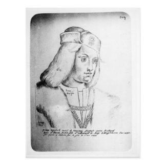 Retrato de Perkin Warbeck Postal