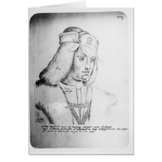 Retrato de Perkin Warbeck Tarjeta De Felicitación