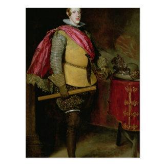 Retrato de Philip IV de España Postal